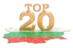 Bułgarski wierzchołka 20 pojęcie, 3D rendering Zdjęcie Royalty Free