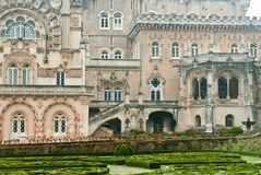 Buçaco Palace and detail of garden Royalty Free Stock Images