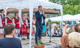 Bułgaria Kmet Tsarevo przy otwarciem Nestenar gry w wiosce Bulgarians Fotografia Stock