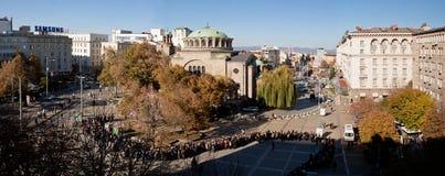 Bułgaria pogrzeb patriarsza Maksyma Zdjęcie Royalty Free