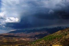 Bułgarska góra w burzy Obraz Royalty Free
