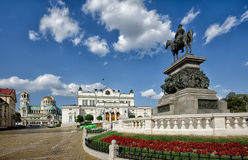 Bułgarski parlamentu kwadrat Obrazy Stock