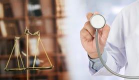 bu médicos dos cuidados médicos da conformidade da farmácia da lei do juiz do conceito da lei imagem de stock