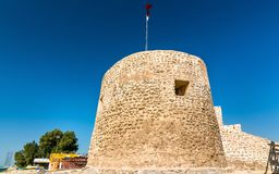 Bu Maher Fort in Muharraq, Bahrain. Bu Maher Fort on Muharraq Island in Bahrain. The Persian Gulf Royalty Free Stock Photography