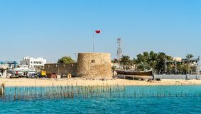 Bu Maher Fort in Muharraq, Bahrain. Bu Maher Fort on Muharraq Island in Bahrain. The Persian Gulf Royalty Free Stock Image