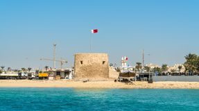 Bu Maher Fort in Muharraq, Bahrain. Bu Maher Fort on Muharraq Island in Bahrain. The Persian Gulf Royalty Free Stock Images