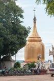 Bu Paya塔金黄stupa  免版税库存图片