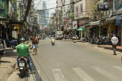 Bu Vei street in Ho Ch Minh city in Vietnam Royalty Free Stock Photography