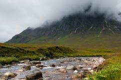 Buachaille Etive平均观测距离, Glencoe苏格兰 免版税库存图片