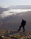 buachaille etive远足者平均观测距离 图库摄影