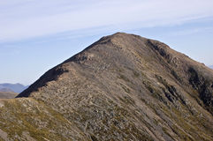 Buachaille Etive Mor. Looking onto Stob Dearg, the highest summit on Buachaille Etive Mor from Stob na Doire Stock Images