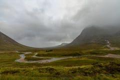 Buachaille Etive Mor on rainy day Scotland. Buachaille Etive Mor in the Scottish Highlands, Scotland Royalty Free Stock Images