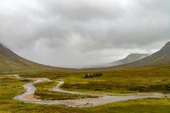 Buachaille Etive Mor on rainy day Scotland. Buachaille Etive Mor in the Scottish Highlands, Scotland Stock Photography