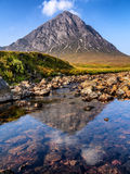 Buachaille Etive Mor reflections Royalty Free Stock Photography