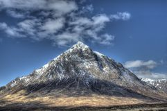 Buachaille Etive Mor Scotland. Buachaille Etive Mor Mountain (stob dearg side) in Scotland. Near Glencoe in Rannoch Moor Stock Photo