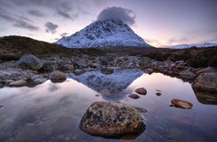 Buachaille Etive Mor Scotland. Near Glencoe in Rannoch Moor Royalty Free Stock Photo