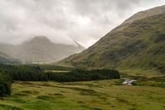 Buachaille Etive Mor in Autumn. Buachaille Etive Mor in the Scottish Highlands, Scotland Royalty Free Stock Photo