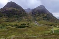 Buachaille Etive Mor on rainy day Scotland. Buachaille Etive Mor in the Scottish Highlands, Scotland Stock Photos