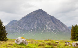 Buachaille Etive Mor. A view of Buachaille Etive Mor in the Scottish highlands.  Buachaille Etive Mor is a mountain in the Scottish Highlands Stock Image