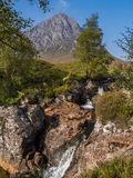 Buachaille Etive Mor and waterfalls Royalty Free Stock Image