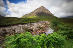 Buachaille Etive Mor on windy day Royalty Free Stock Image