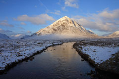 The Buachoille Etive. Mountain high up in Glencoe Scotland Royalty Free Stock Photography