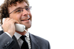 Businessman with telephone Royalty Free Stock Images