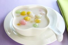 Bualoy, Thai dessert. Rice ball in coconut milk royalty free stock photography