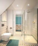 Buanderie et salle de bains traditionnelles classiques lumineuses Photographie stock