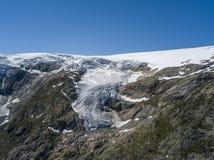 Buarbreen lodowiec, odgałęzienie wielki Folgefonna lodowiec zdjęcia royalty free