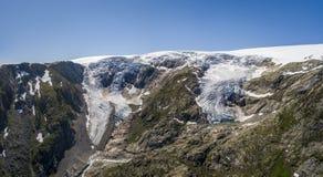 Buarbreen lodowiec, odgałęzienie wielki Folgefonna lodowiec zdjęcie royalty free