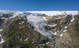 Buarbreen lodowiec, odgałęzienie wielki Folgefonna lodowiec fotografia royalty free
