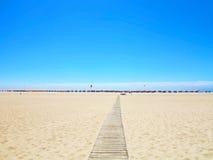 Buarcos海滩 免版税库存照片