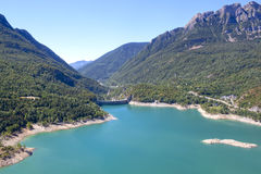 Bubal`s dam from the high of the mountains in Pyrenees Stock Image