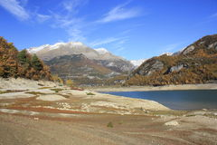 Bubal's lake, mountains in Tena valley, Pyrenees Stock Image