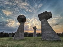 Bubanj memorial park,nis,serbia. Cultural heritage of Serbia represents the totality of national cultural heritage in Serbia as defined by Serbia`s Law on stock photo