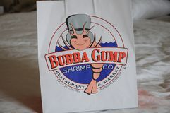 BUBBA GUMP虾CO RESTURANT和市场 免版税库存图片