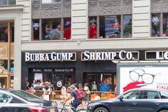 Bubba Gump garnela Co jest życzliwy łańcuch dla owoce morza fotografia stock