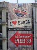 Bubba Gump restauraci Krewetkowy znak obraz stock