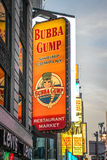 Bubba Gump Restaurant Sign at Times Square, New York Stock Photos