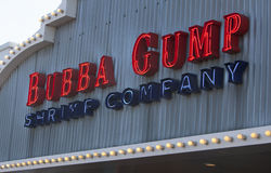 Bubba Gump Shrimp Company Entrance Sign Royalty Free Stock Photography