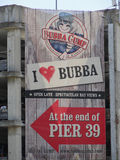 Bubba Gump Shrimp Restaurant Sign Stock Image