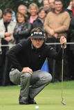 Bubba Watson. Of the USA lines up his putt during a golf tournament Stock Photo