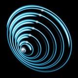 Bubbelpool svart hål, radiella linjer med roterande distorsion Abstrakt spiral, virvelform, beståndsdel Royaltyfri Fotografi