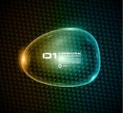 Bubbla anförande som göras av skinande exponeringsglas för att visa ett meddelande eller infographic. Arkivbild