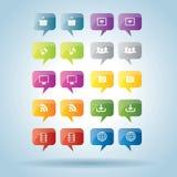 Bubbla av kommunikationssymbolsuppsättningen Royaltyfri Bild
