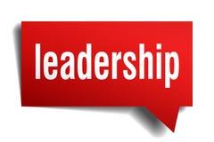 Bubbla för anförande 3d för ledarskap röd vektor illustrationer