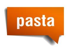 Bubbla för anförande 3d för pasta orange Royaltyfri Illustrationer