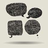 Bubbla för pennklotteranförande stock illustrationer
