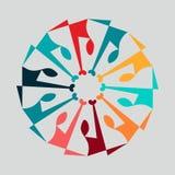 Bubbla för pratstund för enhet för folkfamilj tillsammans mänsklig stock illustrationer